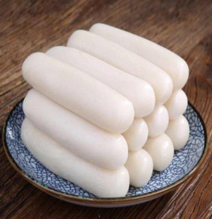 The rice cake produced by the rice cake machine
