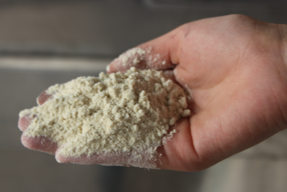 Brushed protein soybean meal