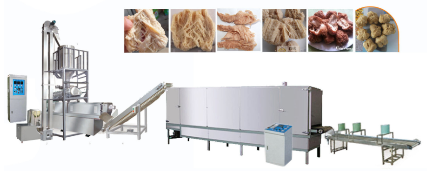 Wire drawing protein production line